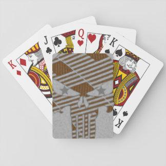 Estrellas del cráneo barajas de cartas