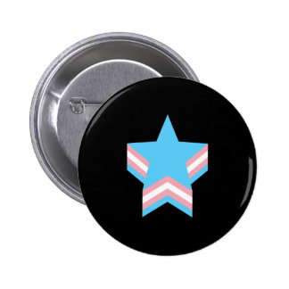 Estrellas del orgullo del transexual chapa redonda de 5 cm