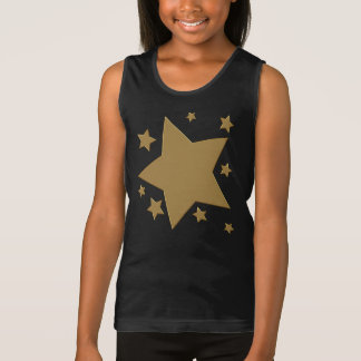 Estrellas del oro camiseta de tirantes