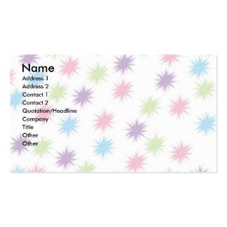 Estrellas del pastel tarjetas de visita