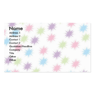 Estrellas del pastel tarjeta de visita