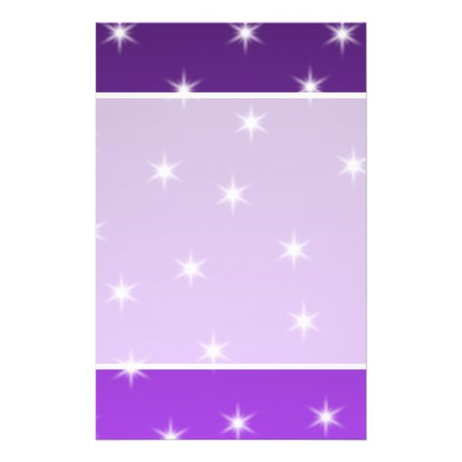 Estrellas del púrpura y blancas, modelo flyer a todo color