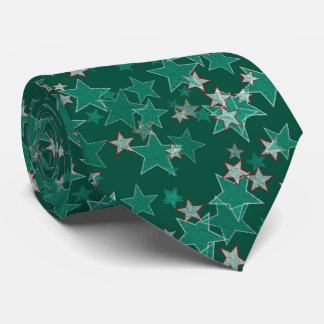 Estrellas del verde corbatas personalizadas