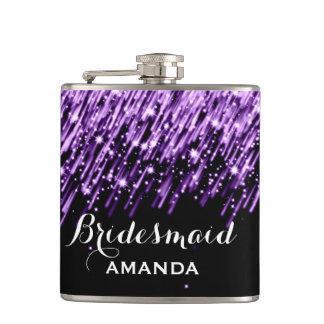 Estrellas el caer del favor del boda púrpuras petaca