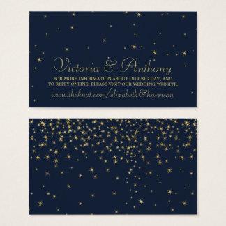 Estrellas el caer elegantes de la marina de guerra tarjeta de visita