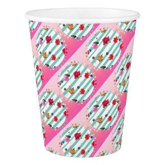 Estrellas florales rosadas del fiesta vaso de papel