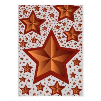 Estrellas Invitación 12,7 X 17,8 Cm