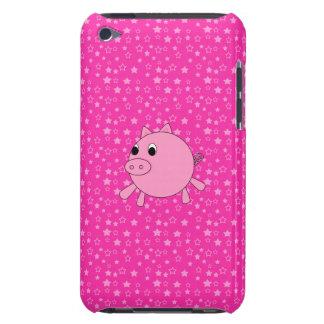 Estrellas lindas del rosa del cerdo iPod touch cárcasa