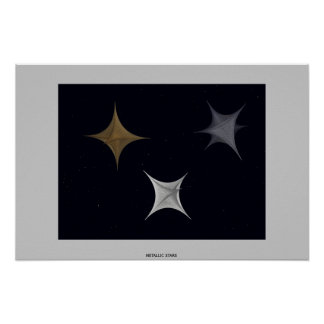 Estrellas metálicas póster