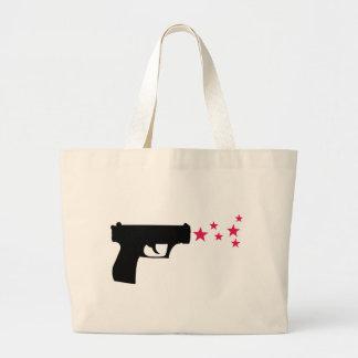 estrellas negras de la pistola de la estrella del  bolsa de mano
