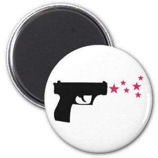 estrellas negras de la pistola de la estrella del  imán de frigorifico
