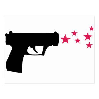 estrellas negras de la pistola de la estrella del  postales