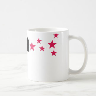 estrellas negras de la pistola de la estrella del  taza de café