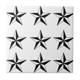 Estrellas negras y del blanco azulejo cuadrado pequeño