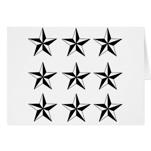 Estrellas negras y del blanco felicitaciones