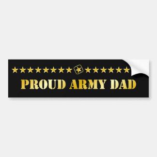 Estrellas orgullosas del papá del ejército pegatina para coche