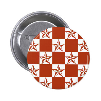 Estrellas oscilantes del rojo chapa redonda de 5 cm