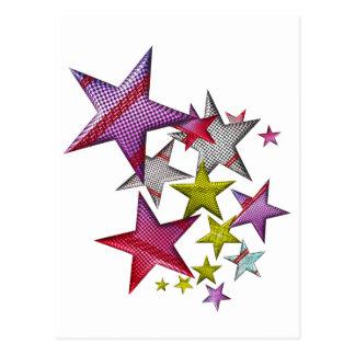 ¡Estrellas para su estrella! Postal