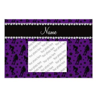 Estrellas púrpuras conocidas de encargo de derby impresion fotografica