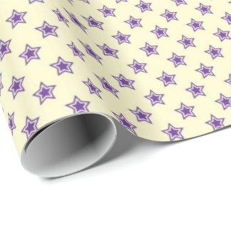 Estrellas púrpuras papel de regalo