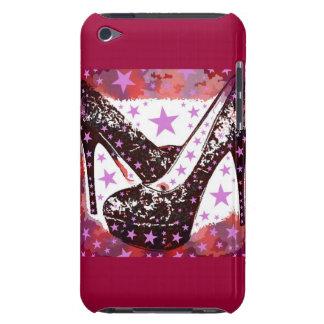 Estrellas púrpuras rosadas atractivas fabulosas de iPod Case-Mate protector