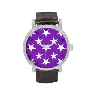 Estrellas púrpuras y del blanco violetas