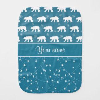 Estrellas que centellean de los osos polares paños para bebé