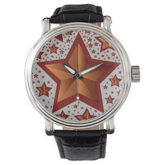 estrellas reloj de mano