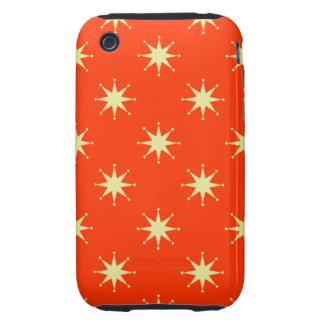 Estrellas retras adaptables iPhone 3 tough carcasas