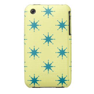 Estrellas retras adaptables iPhone 3 Case-Mate protectores