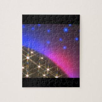 Estrellas sobre el planeta. (estrellas; planeta; puzzle