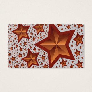 estrellas tarjeta de negocios