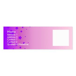 Estrellas violetas plantillas de tarjeta de negocio