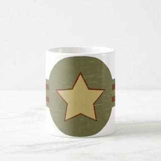 Estrellas y barras taza básica blanca