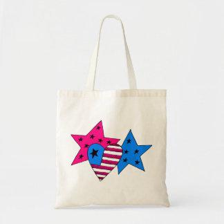 Estrellas y bolso patrióticos del corazón