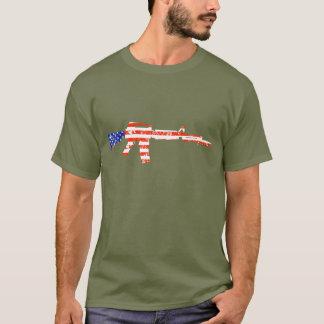 Estrellas y camisa de Rifkle de las rayas