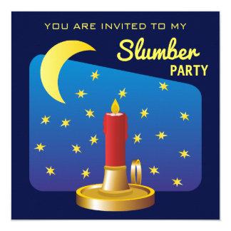 Estrellas y fiesta de pijamas del muchacho del invitación 13,3 cm x 13,3cm