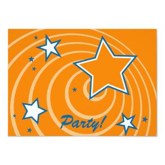 Estrellas y fiesta retros adaptables de los invitación 11,4 x 15,8 cm