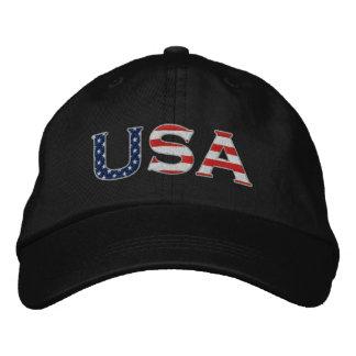 Estrellas y gorra bordados los E.E.U.U. de las ray Gorra Bordada