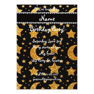 Estrellas y lunas amarillas conocidas de encargo invitación 12,7 x 17,8 cm