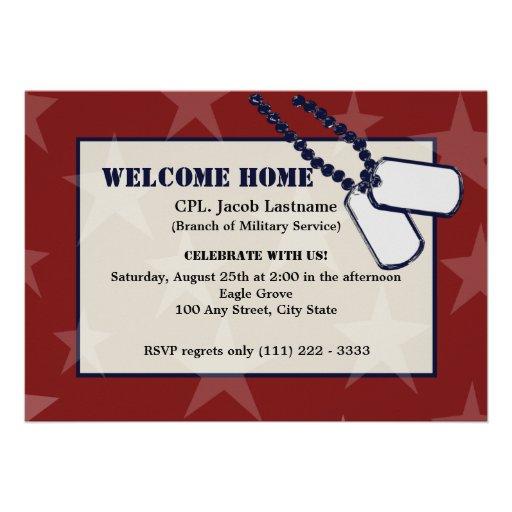 Estrellas y placas de identificación militares cas anuncio personalizado