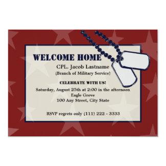 Estrellas y placas de identificación militares invitación 12,7 x 17,8 cm
