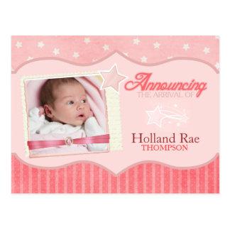 Estrellas y rayas 3 tarjetas recién nacidas de la  tarjeta postal
