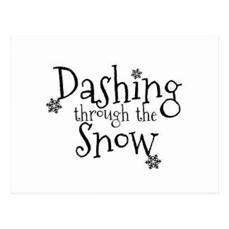 Estrellazo a través de la postal de la nieve el |