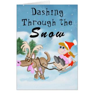 Estrellazo a través de la tarjeta de Navidad de la
