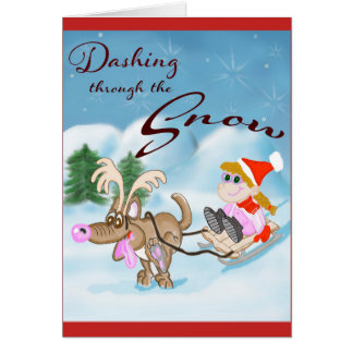 Tarjeta Estrellazo a través de la tarjeta de Navidad de la
