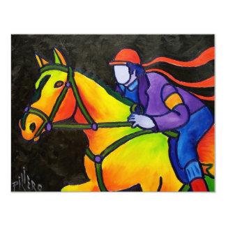 Estrellazo del caballo invitación 10,8 x 13,9 cm
