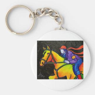 Estrellazo del caballo llavero redondo tipo chapa
