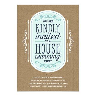 Estreno de una casa Pary de la tipografía el | del Invitación 12,7 X 17,8 Cm