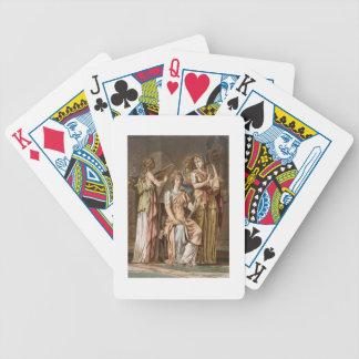 Estribillo de las mujeres israelitas, trajes para  baraja de cartas
